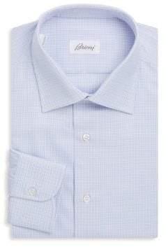 Brioni Plaid Cotton Dress Shirt