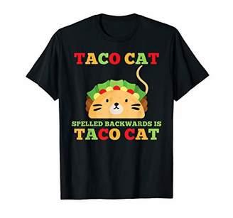 Funny Tacos Taco Cat Spelled Backwards Men Women Gifts T-Shirt