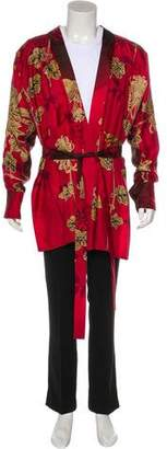 Gucci 2001 Silk Floral Print Robe
