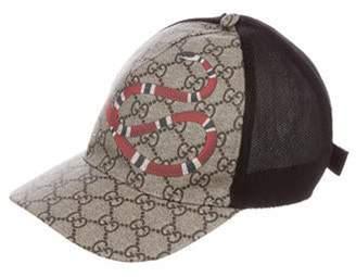 Gucci Supreme Snake Baseball Cap Tan Supreme Snake Baseball Cap