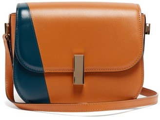 Valextra Iside Cross Body Leather Bag - Womens - Tan Multi