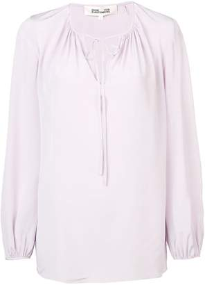 Diane von Furstenberg drawstring blouse