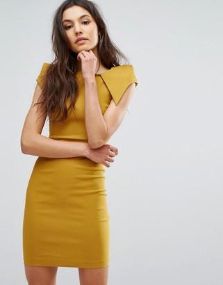 Vesper Pencil Dress With Asymmetric Shoulder Detail $49 thestylecure.com
