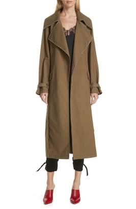 Robert Rodriguez Studded Trench Coat