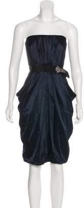 J. Mendel Strapless Satin Dress