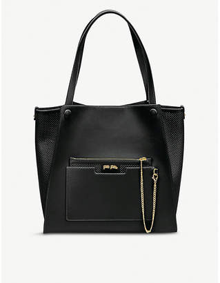 At Selfridges Folli Follie On The Go Textured Faux Leather Tote Bag