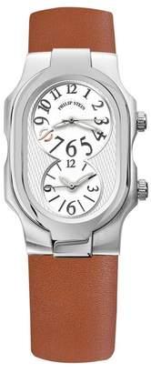 Philip Stein Teslar Women's Signature Dual Time Zone Watch, 42mm