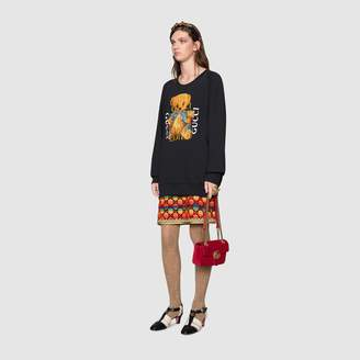 Gucci Oversize sweatshirt with logo and teddy bear