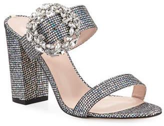 Sarah Jessica Parker Celia Embellished Sparkle Slide Sandals