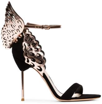 Sophia Webster black Evangeline 100 wing suede sandals