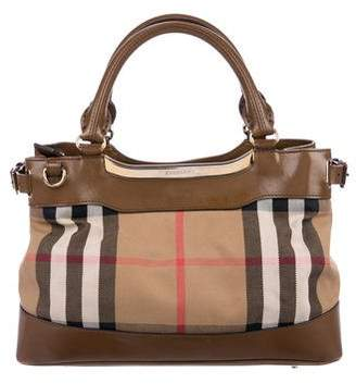 Burberry House Check Bridle Small Hepburn Tote
