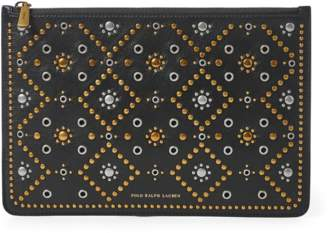 Polo Ralph Lauren Studded Leather Zip Pouch