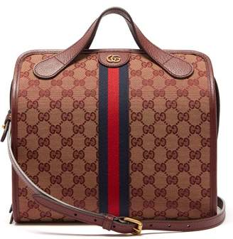 Gucci Ophidia Gg Canvas Top Handle Bag - Womens - Red Multi