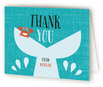 Shark Attack Pool Party Children's Birthday Party Thank You Cards