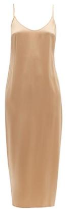 La Perla Scoop Neck Silk Satin Slip - Womens - Nude