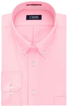 Chaps Big & Tall Essentials Regular-Fit Herringbone Wrinkle-Free Dress Shirt