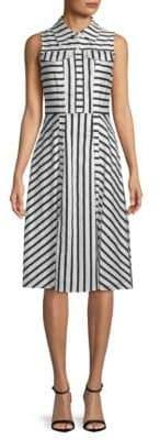 Julia Jordan Sleeveless Striped Shirtdress