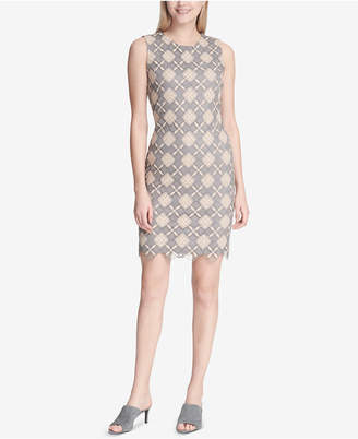Calvin Klein Diamond-Lace Sheath