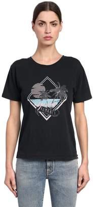 Saint Laurent Young Romance Cotton Jersey T-Shirt