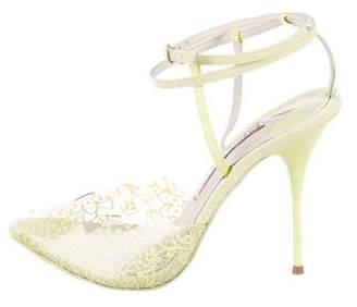 Sophia Webster PVC Ankle Strap Sandals