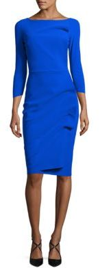 La Petite Robe di Chiara Boni Chiara Boni Robe Sheath Ruffle Dress $695 thestylecure.com