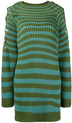 Alberta Ferretti ribbed striped jumper