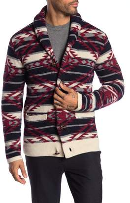 Barque Patterned Shawl Collar Cardigan