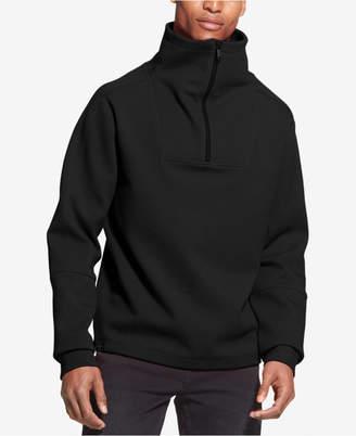 DKNY Men's Drop-Shoulder 1/4-Zip Funnel-Neck Sweatshirt