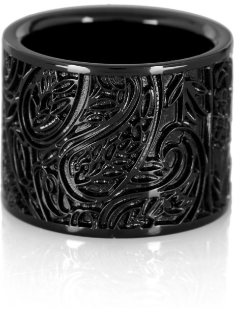 Burberry Paisley brass ring