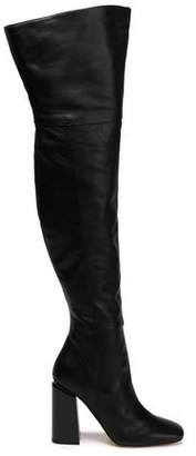Sigerson Morrison Jessica Pebbled-Leather Thigh Boots