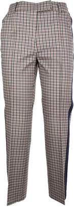 Tory Burch Check Pattern Cropped Trousers