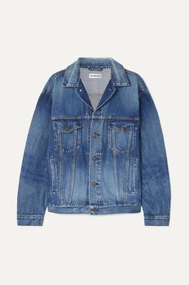 Balenciaga Oversized Printed Denim Jacket - Mid denim