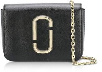 Marc Jacobs The Logo Strap Hip Shot Black Multi Saffiano Leather Belt bag