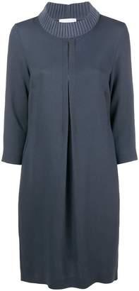 Fabiana Filippi beaded pleat detail sweater dress