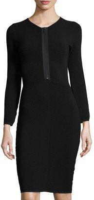 John & Jenn Ottoman Ribbed Stitch Dress, Black $129 thestylecure.com
