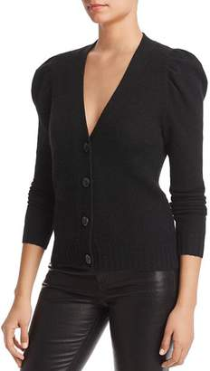 Bloomingdale's C by Puff-Sleeve Cashmere Cardigan - 100% Exclusive