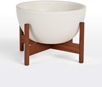 Rejuvenation Modernica Case Study Bowl with Walnut Stand