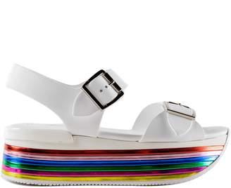 Hogan H369 Maxi Wedge Sandals