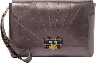 Anya Hindmarch Space Invaders Bathurst Leather Clutch