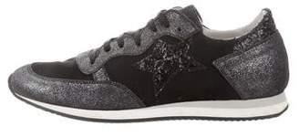 Velvet Canvas Low-Top Sneakers