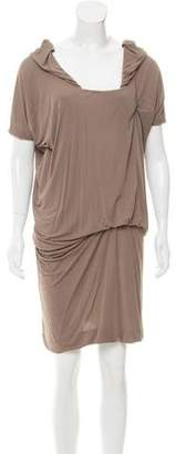 CNC Costume National Draped Knee-Length Dress