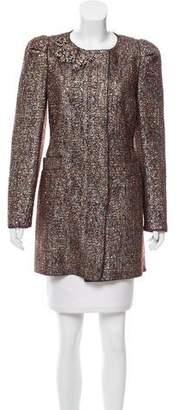 Prada Embellished Tweed Coat