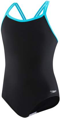 Speedo Girl's Crisscross One-Piece Swimsuit