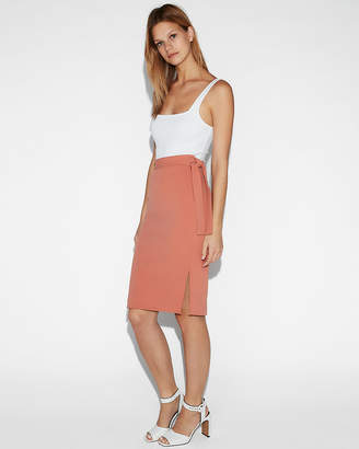 Express High Waisted Side Tie Pencil Skirt