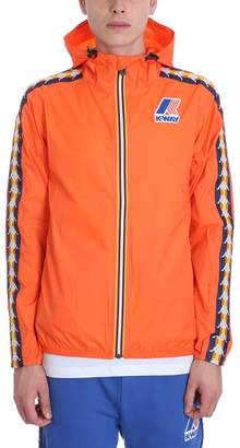 K-Way K Way Kappa X Collaboration Jacket In Orange Nylon