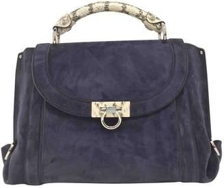 Salvatore Ferragamo Sofia Blue Suede Handbag