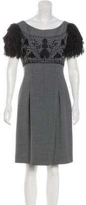 Philosophy di Alberta Ferretti Embroidered Knee-Length Dress