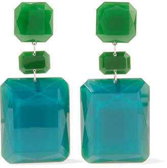 Isabel Marant Silver-tone Resin Earrings - Emerald