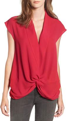 Trouve Twist Front Knot Top