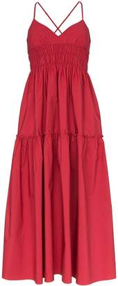 Three Graces Emma shirred midi dress